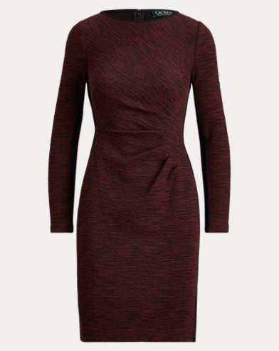 Two-Tone Jacquard Dress