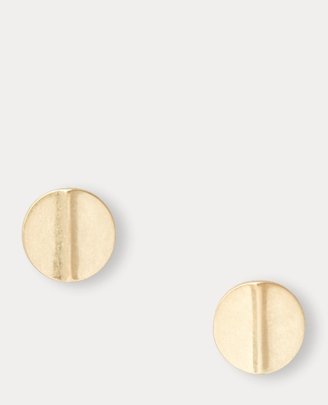 Brass Disc Clip-On Earrings