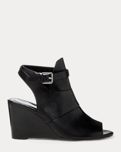 Abelle Calfskin Wedge Sandal