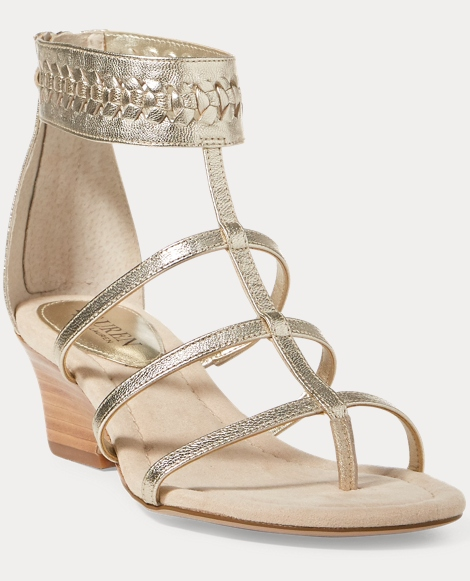 Meira Metallic Wedge Sandal