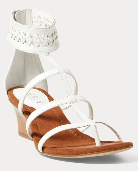 Meira Leather Wedge Sandal