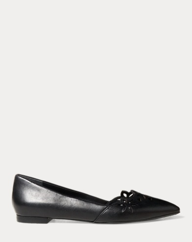 Allayana Cut-Out Leather Flat