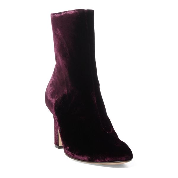 Ralph Lauren Bridgett Velvet Boot Port 11.5