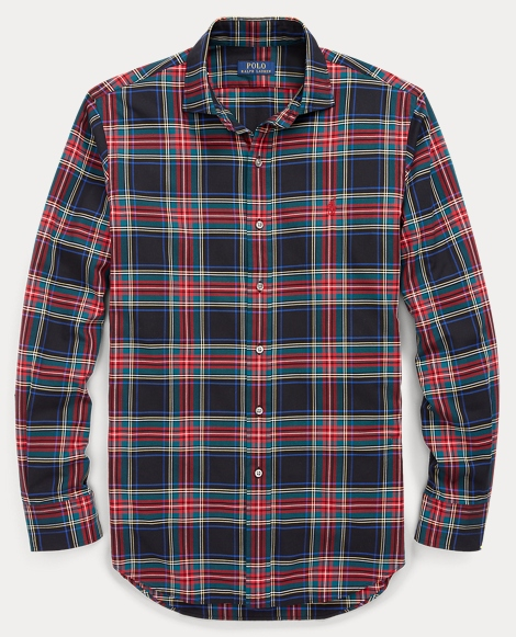 Slim Fit Plaid Cotton Shirt
