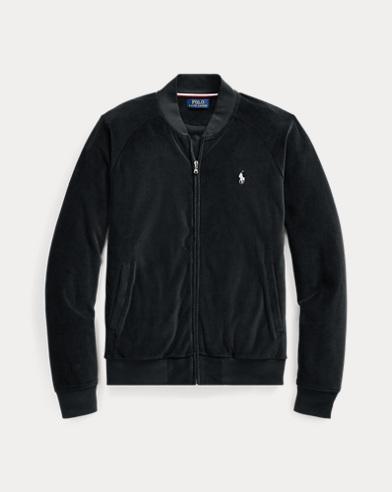 Cotton-Blend-Velour Jacket
