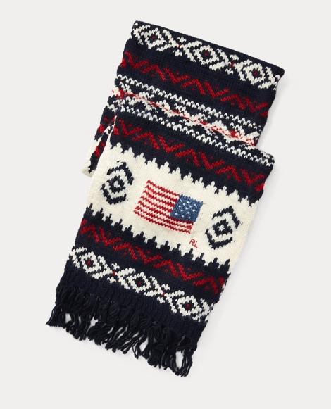 Flag Wool-Blend Scarf