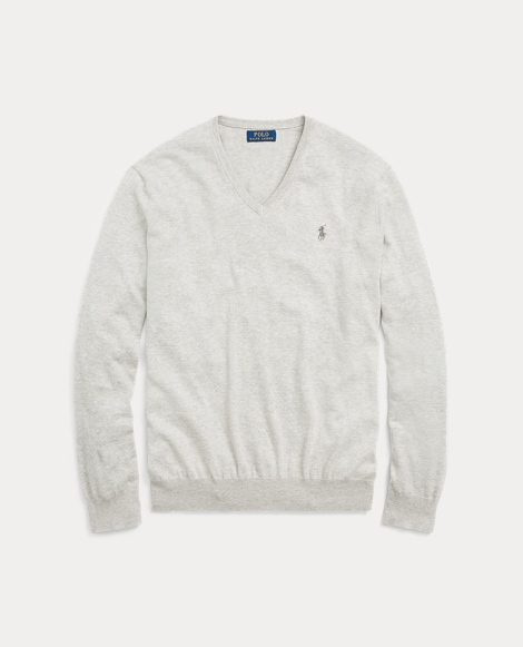 Slim Fit Cotton V-Neck Sweater