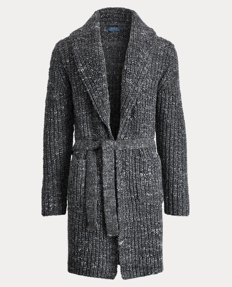 Belted Wool-Blend Cardigan