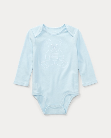 Embroidered Polo Bear Bodysuit