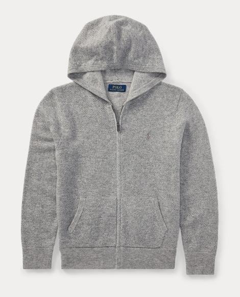 Wool-Cashmere Full-Zip Hoodie