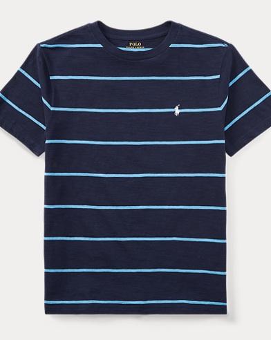 Striped Cotton Jersey T-Shirt