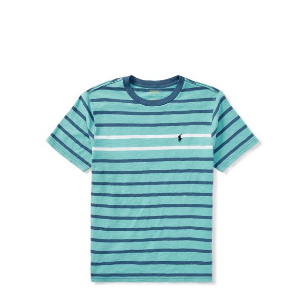 Ralph Lauren Striped Cotton Jersey T-Shirt Deep Seafoam Multi S