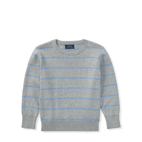 Ralph Lauren Striped Cotton Sweater Grey Heather Multi 6