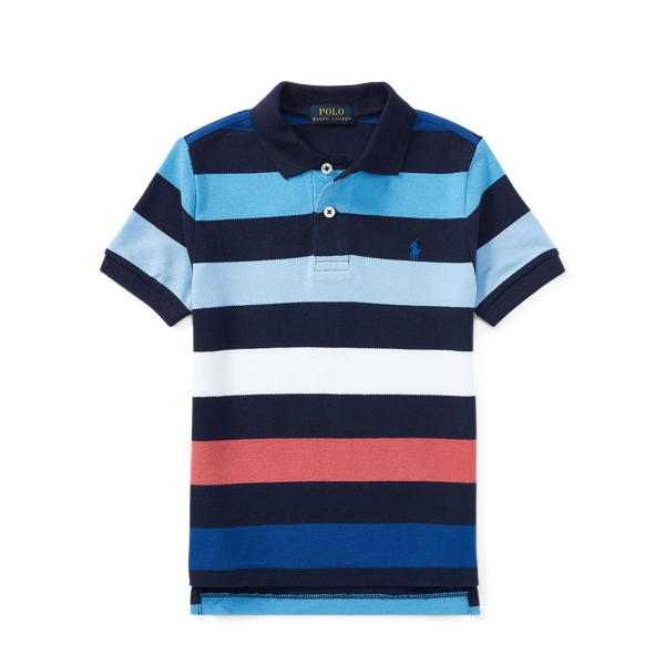 65a44933 Polo Ralph Lauren. Striped Cotton Mesh Polo Shirt