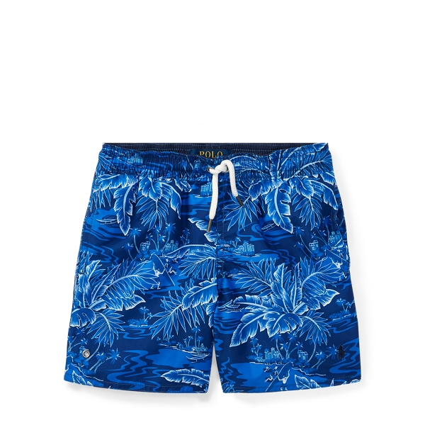 Ralph Lauren Captiva Tropical Swim Trunk Aloha/Newport Navy 2T