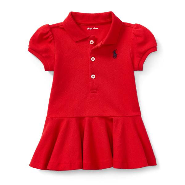 Ralph Lauren Mesh Polo Dress & Bloomer Rl2000 Red 6M