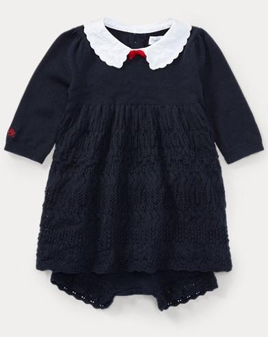 Cotton Sweater Dress & Bloomer