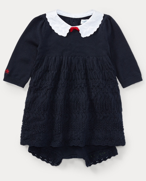 Cotton Sweater Dress & Bloomer
