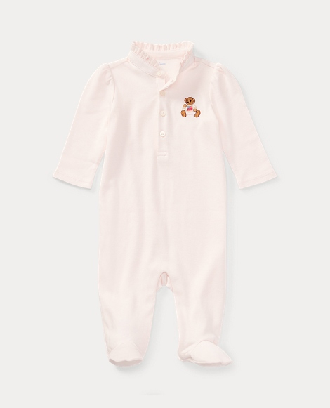Embroidered Polo Bear Coverall