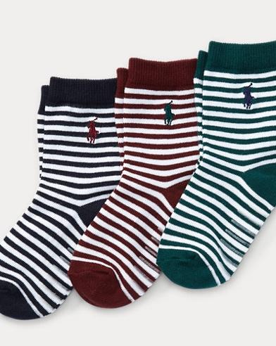 Nautical-Stripe Sock 3-Pack