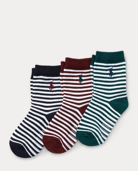 Nautical-Stripe Sock 3-Pack
