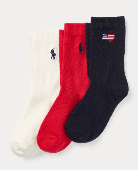 Flag Trouser Sock 3-Pack