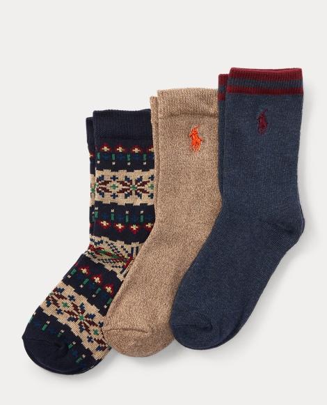 Fair Isle Trouser Sock 3-Pack