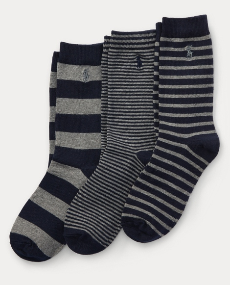 Striped Trouser Sock 3-Pack