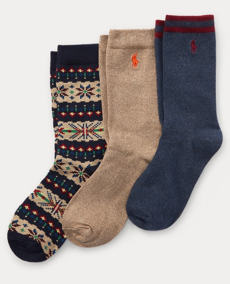 Fair Isle Trouser Sock 3-Pack
