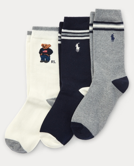 Polo Bear Trouser Sock 3-Pack