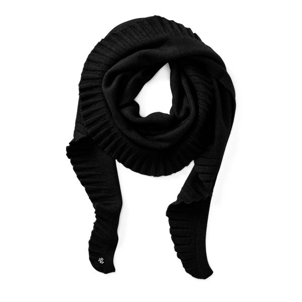 Ralph Lauren Shirred Scarf Black One Size