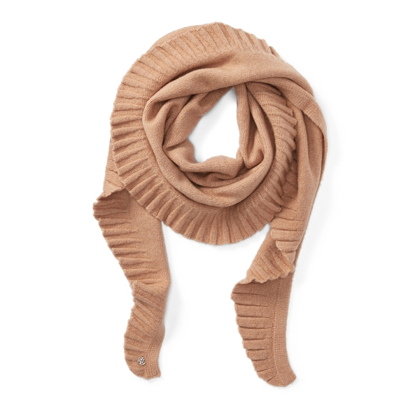 Ralph Lauren Shirred Scarf Camel One Size