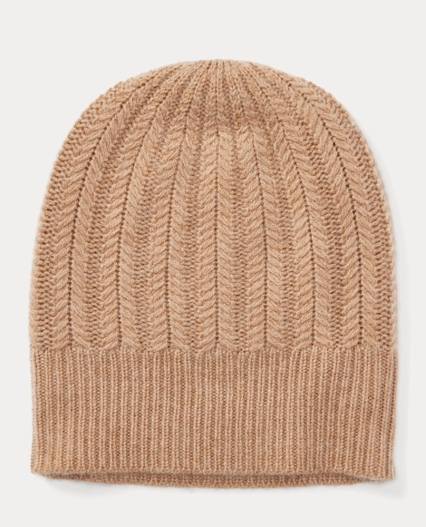 Wool-Cashmere Herringbone Hat