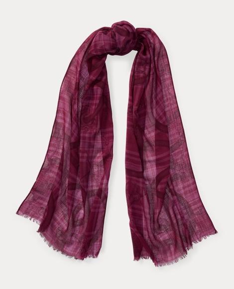 Leah Bridle-Print Wool Scarf