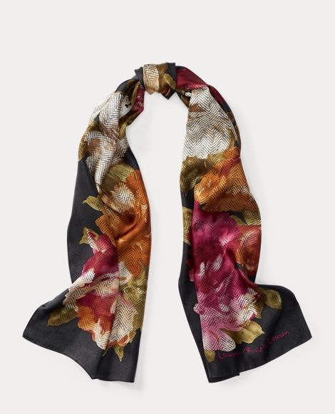 Florina Floral Silk Scarf