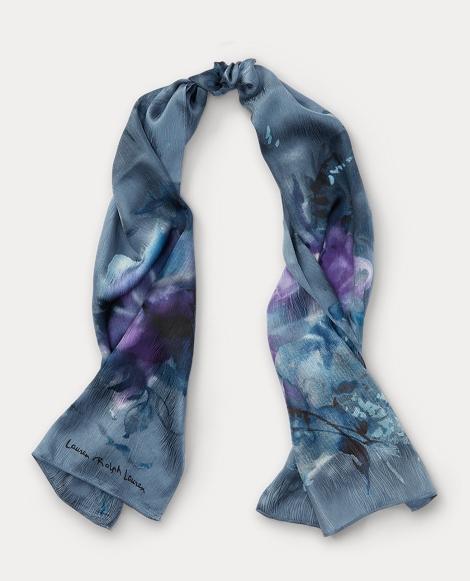 Claudette Floral Silk Scarf