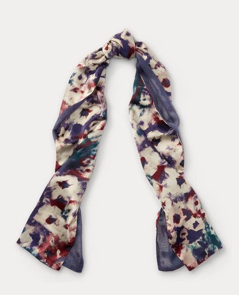 Mila Floral Silk Scarf