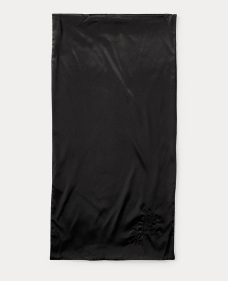 Laia Embroidered Satin Scarf