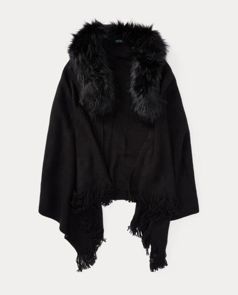 Faux-Fur-Collar Wrap