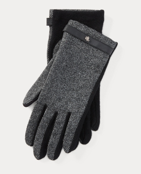 Herringbone Wool Tech Gloves