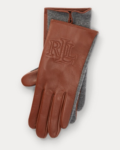 Leather-Lambswool Gloves