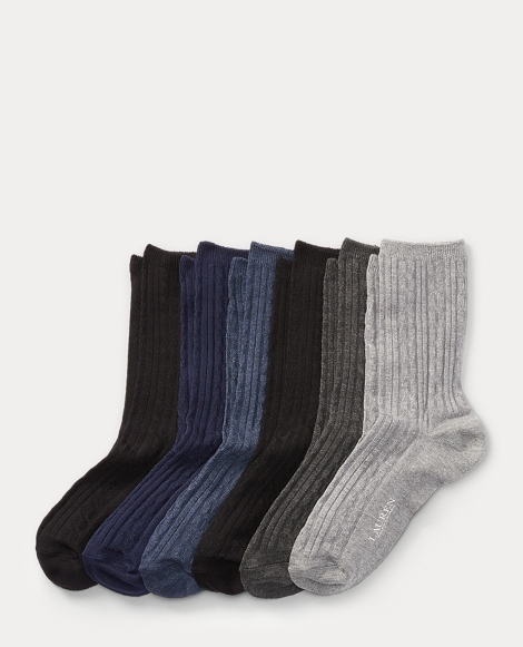 Cable-Knit Trouser Sock 6-Pack
