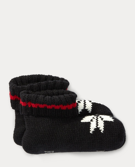 Knit Snowflake Booties