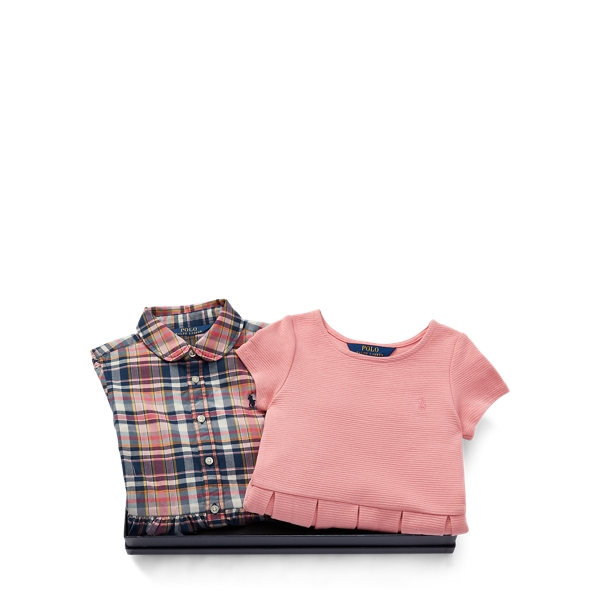 Ralph Lauren Dress 2 - Piece Gift Set Multi 2T