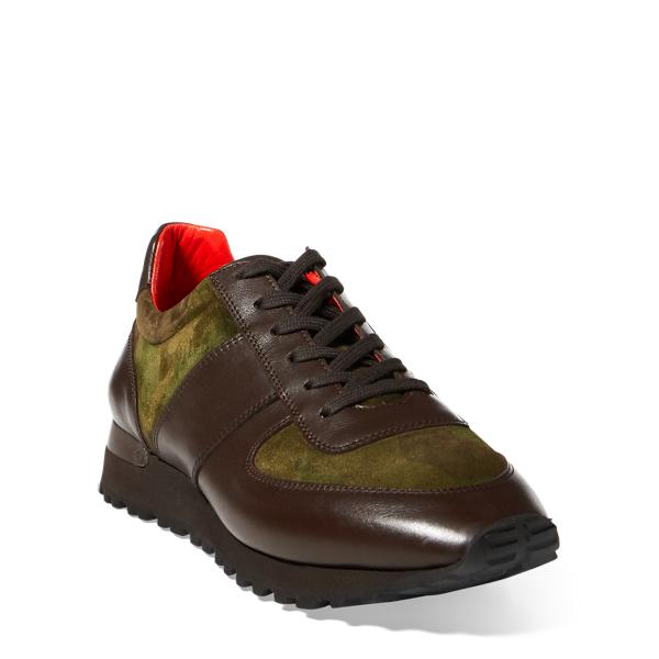 Ralph Lauren Ethan Camo Suede Sneaker Camo 10 D
