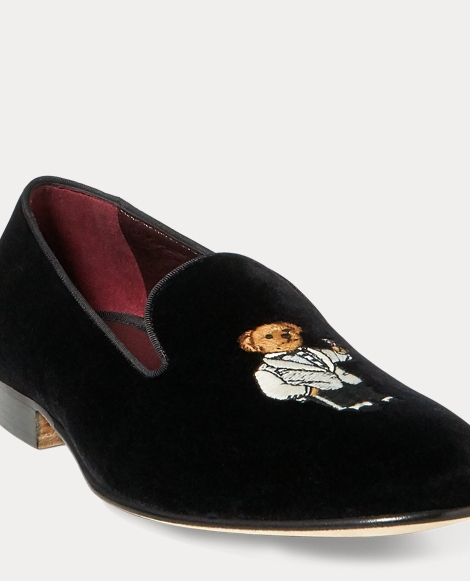 Alonzo Bear Velvet Slipper