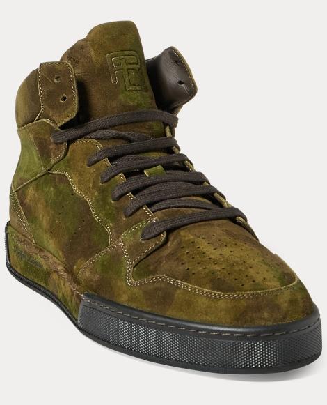 Giancarlo Camo Suede Sneaker