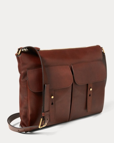 Calfskin Pocket Messenger Bag