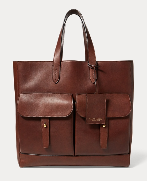 Luxe Calfskin Pocket Tote
