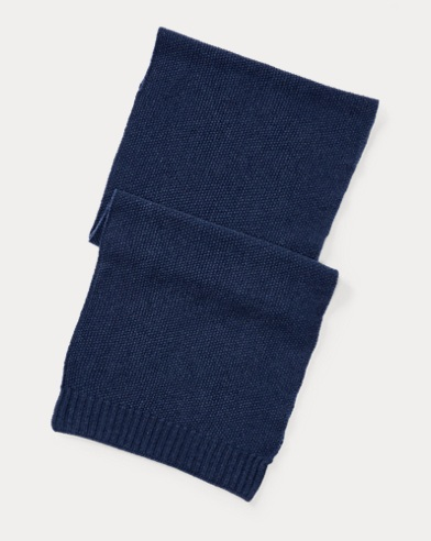 Seed-Stitched Cashmere Scarf